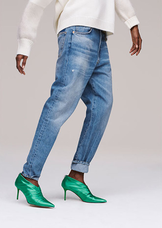 JEANS THE RECONSTRUCTED VINTAGE HIGH RISE