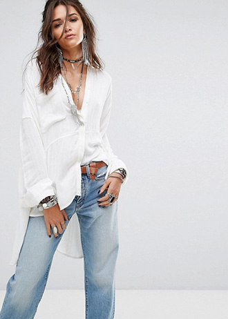 Free People - Cozy Nights - Chemise oversize