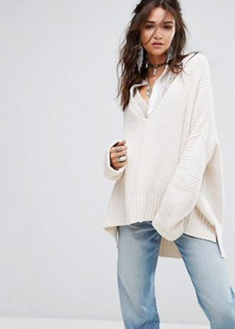 Free People - Take Over Me - Pull en maille col V